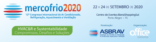 Banner - 12º Congresso Internacional de Ar Condicionado, Refrigeração, Aquecimento e Ventilação - MERCOFRIO 2020