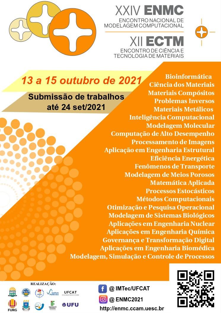 Banner - XXIV Encontro Nacional de Modelagem Computacional e XII Encontro de Ciência e Tecnologia de Materiais
