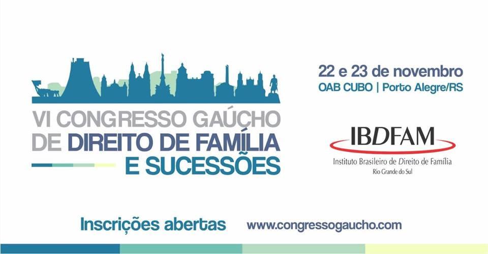 Banner - VI Congresso Gaúcho de Direito de Família e Sucessões