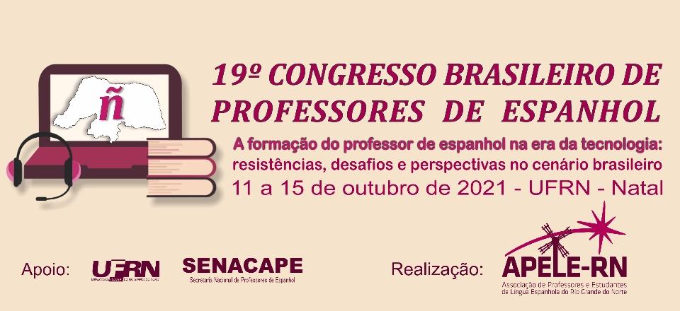 Banner - 19º CONGRESSO BRASILEIRO DE PROFESSORES DE ESPANHOL