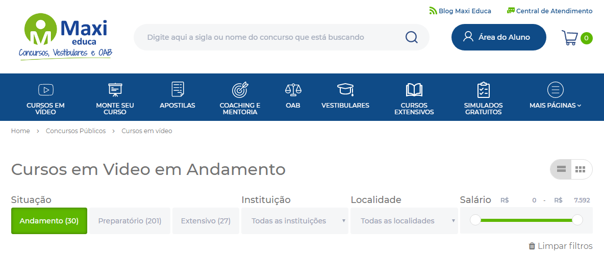 Curso OAB online: Maxi Educa - Imagem 1