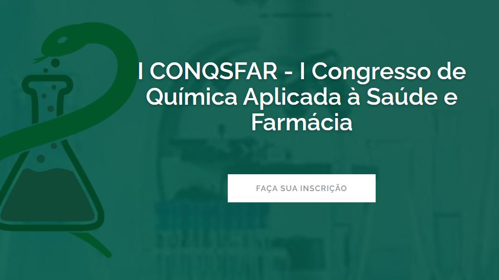 Banner - I CONQSFAR - I Congresso de Química Aplicada à Saúde e Farmácia