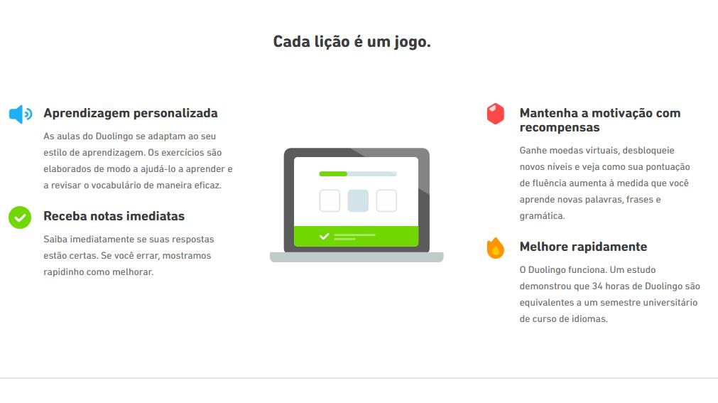 Cursos EAD gratuitos: Duolingo - Imagem 3