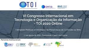 Banner - TOI – VI Congresso Internacional em Tecnologia e Organização da Informação