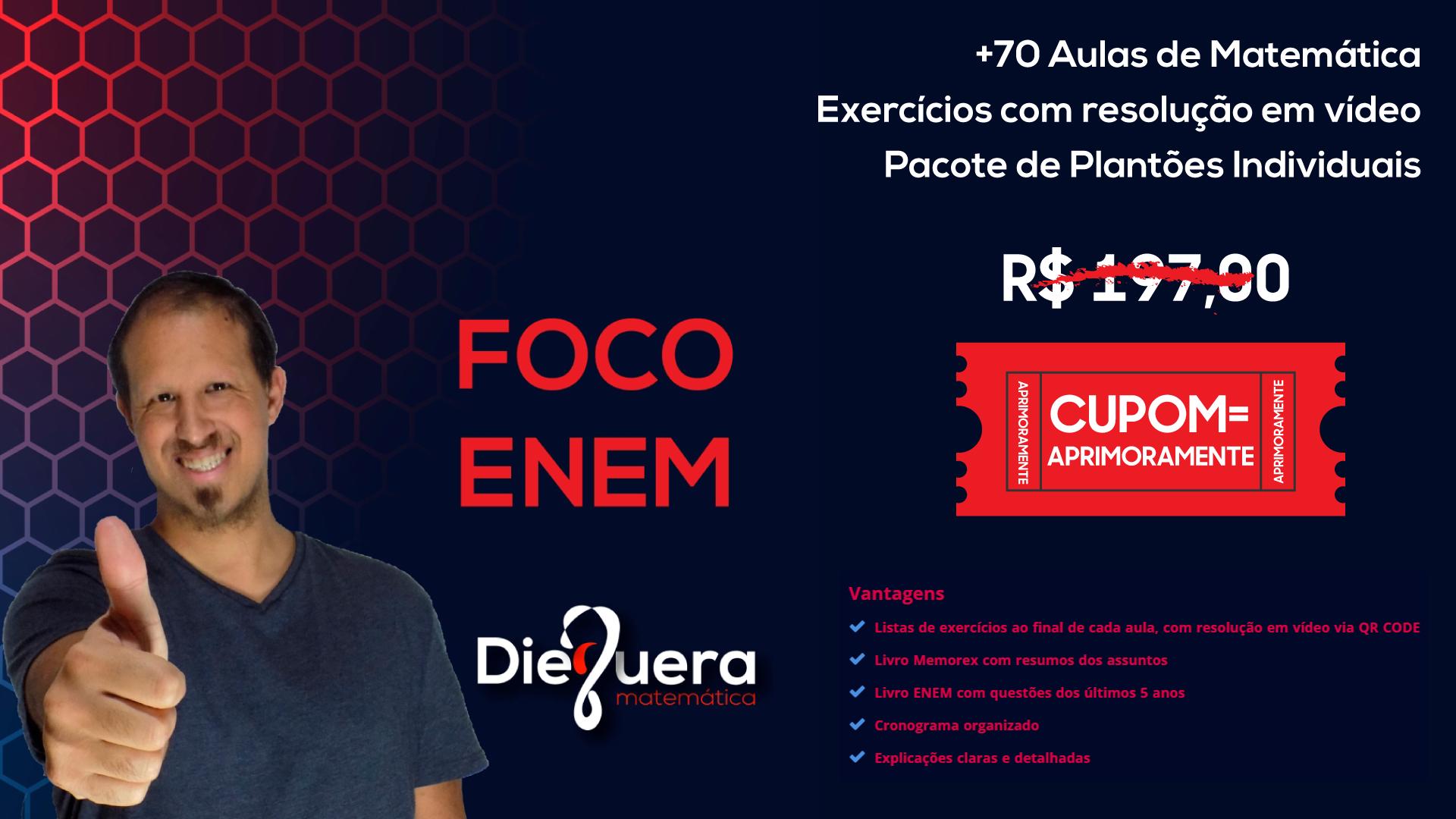 Banner - FOCO ENEM MATEMÁTICA - CURSO DE REVISÃO ENEM 2020