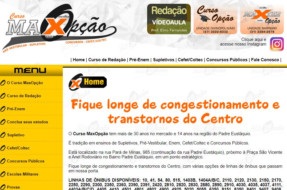 Preparatório ENEM online: Curso MaxOpção - Imagem 1