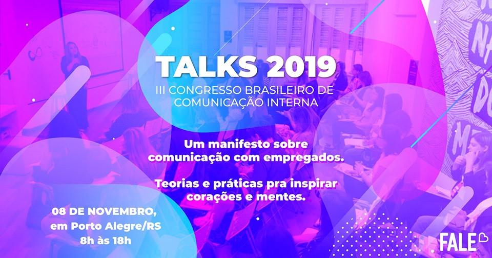 Banner - TALKS 2019 > Congresso Brasileiro de Comunicação Interna