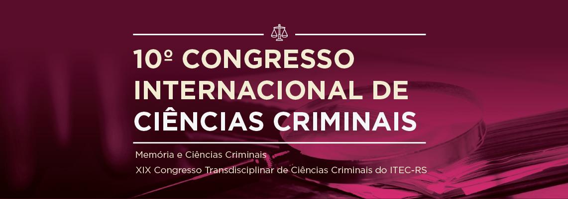Banner - 10° Congresso Internacional de Ciências Criminais