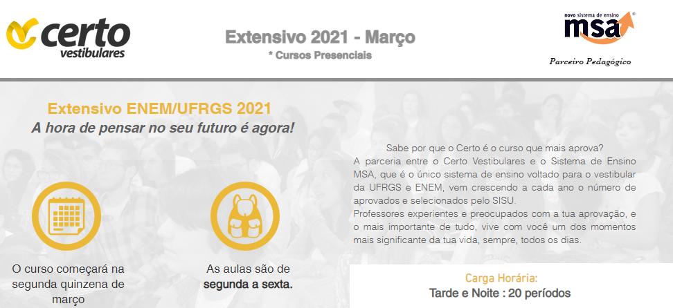 Banner - Extensivo ENEM/UFRGS 2021